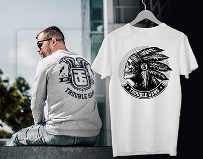 Merch and T-shirt designs: TroubleGang