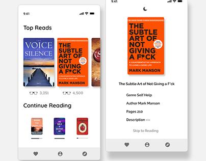 UI for E-BOOK APP