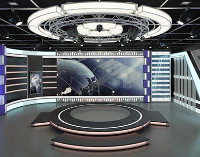 TV Studio News Set 6