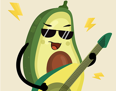"""Vector fruit character for stories """"Simple Fasting"""" app"""
