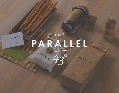 Café Parallel 43° Brand Identity