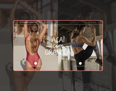 Açaí com Granola / Online Store Website