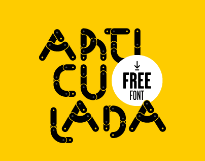 Articulada experimental type (Free font)