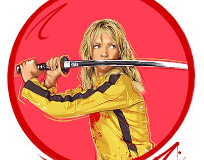 Pop Art Illustration - Kill Bill