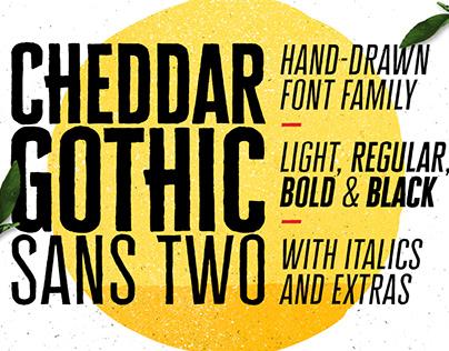 Cheddar Gothic Sans Two Font Family By:Adam Ladd