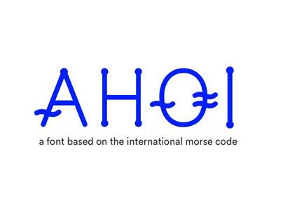 Ahoi – Font concept