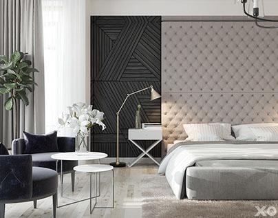 XO Design neoclassical interior / S=355 m2