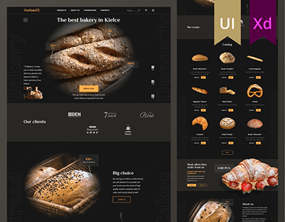 """Website concept for """"TheBakery"""""""