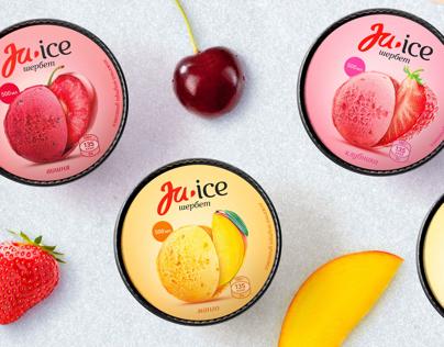 Ju Ice (fruit & berries sorbet) package design
