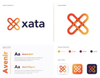 Xata letter logo