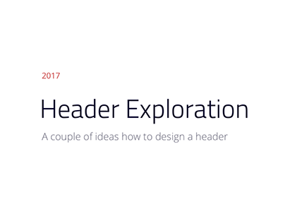 Headers Exploration