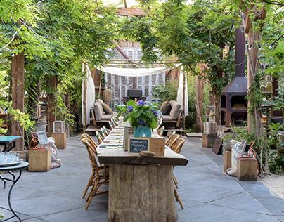 Italian garden dining in The Netherlands