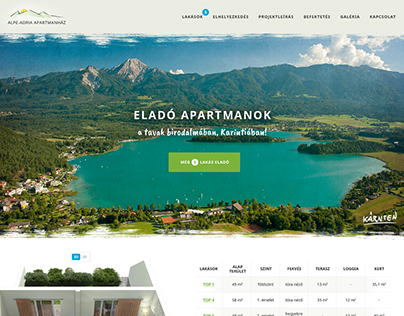 Alpe Adria Apartman website design