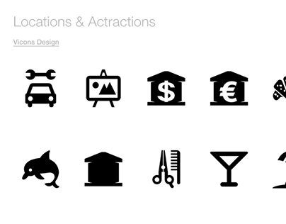 Locations & Actractions Icon Set