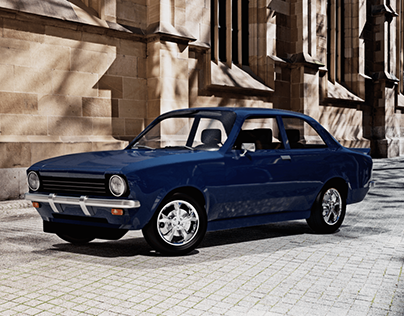 3D Chevrolet Chevette 1976 (Opel Kadett C)