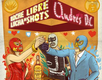 """""""Noche Libre, Lucha de Shots"""" Jose Cuervo"""