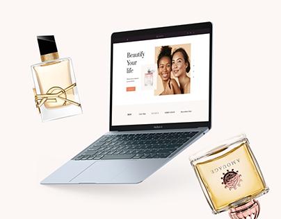INTENTION e-commerce design concept