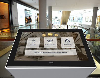 Airport touch screen terminal