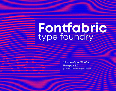 Font Fabric Type Foundry 10 years exhibition