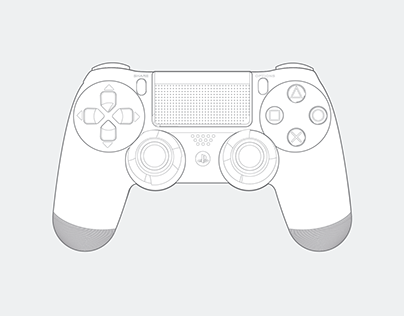 PS 4 Controller Illustration