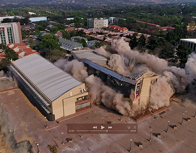 Building Implosion - Drone Video