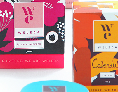 WELEDA Natural Cosmetics packaging and communication