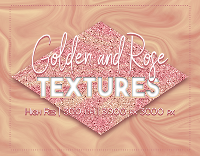 Golden and Rose Textures