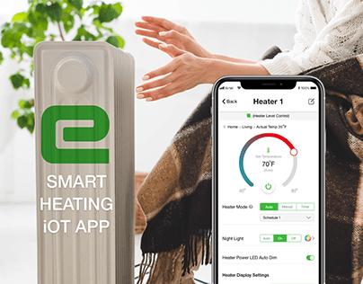Smart iOT Heater App UI UX Design