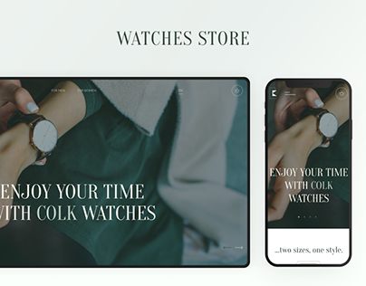 Watches store - «COLK». Promo UX/UI Case.