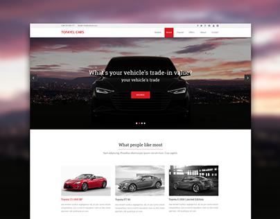 Website design for a car dealer. Homepage.