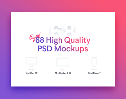 68 High Quality PSD Mockups