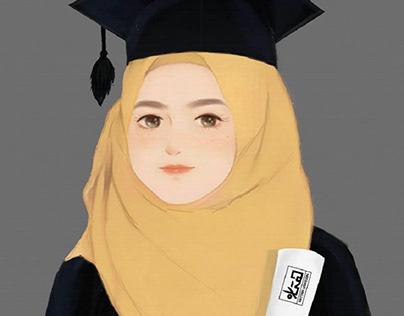 رسم رقمي التخرج digital art graduation