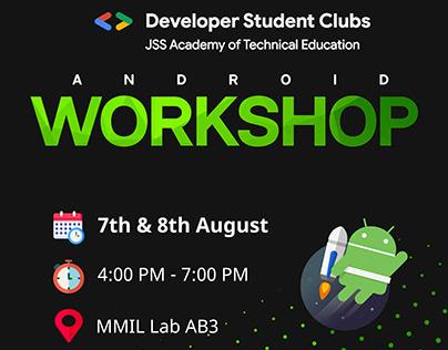DSC JSS Android Workshop Poster Design