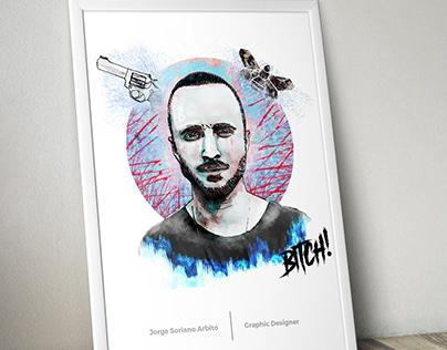 Portrait Ilustrated l Jesse Pinkman of Breaking Bad