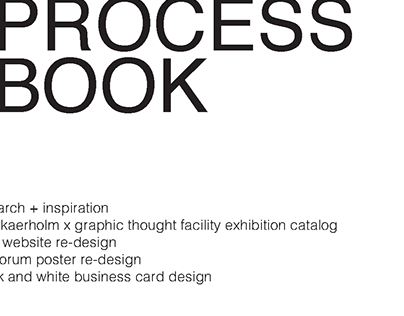 Process Book Spreads