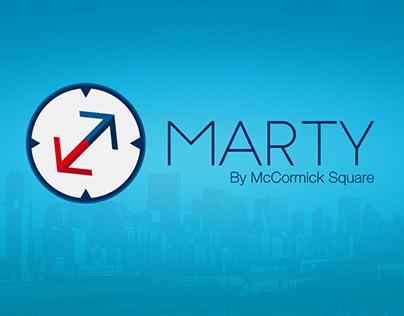 Marty App Promo Graphics