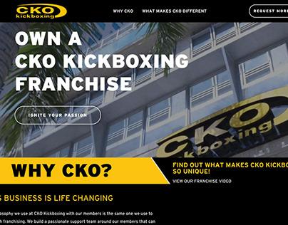 CKO KICKBOXING Landing Page