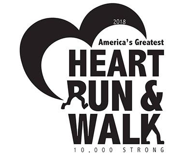 Logo design- America's Greatest Heart Run & Walk