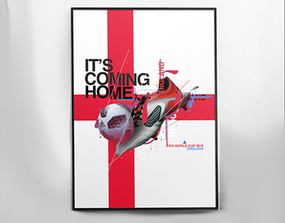 Fifa World cup 2018 England Poster - It's coming home