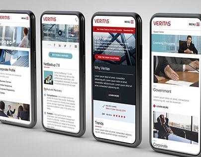 Responsive Website Design for Veritas/Symantec
