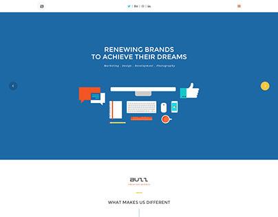 Buzz - Flat Responsive Onepage Website Template