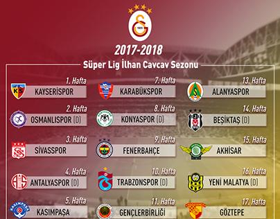 Galatasaray Super League Fixture List 2017 - 2018