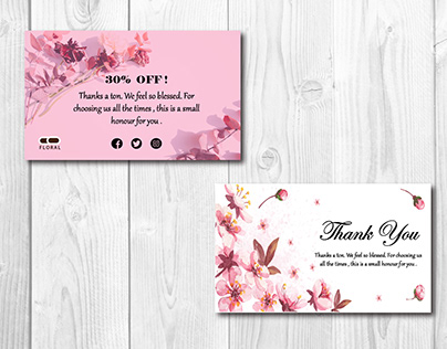 Thank you and Product Cards