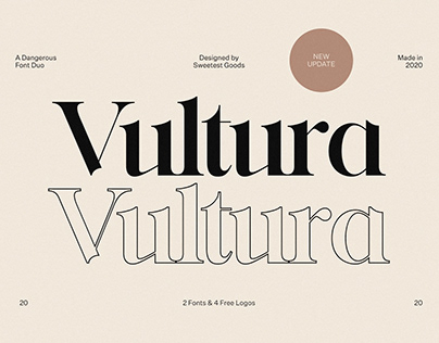 Vultura - Font Duo + Free Logos