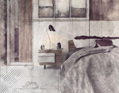 Sketch Bedroom