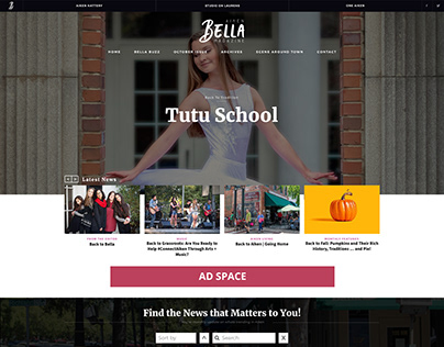 Palmetto Bella Website Mockup