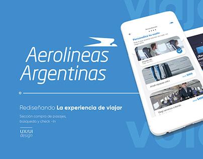 UX/UI Proyect - Aerolíneas Argentinas