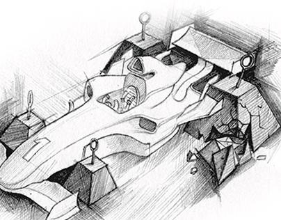 """FAIL BETTER"" exhibition book illustration"