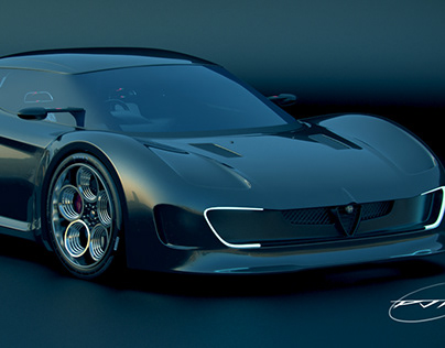 Alfa Romeo Supercar concept. Work in Progress