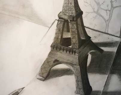 Eiffel Tower 3D drawing